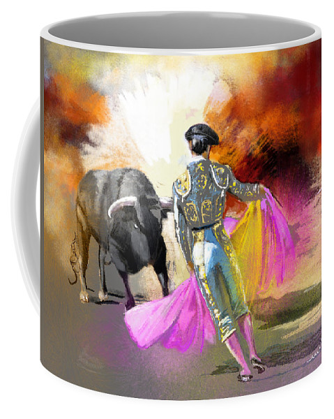 Animals Coffee Mug featuring the painting Toroscape 43 by Miki De Goodaboom