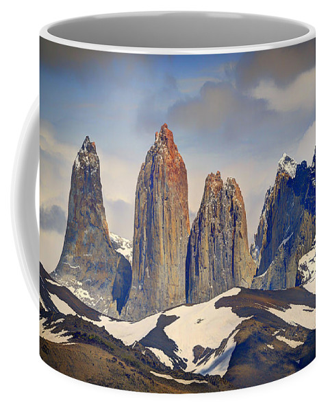 Landscape Coffee Mug featuring the photograph Torres Del Paine by Claudio Bacinello