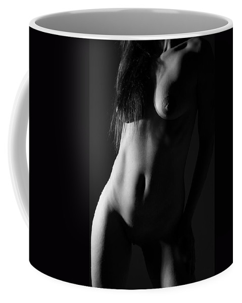 Black And White Coffee Mug featuring the photograph Torso In Black And White by Joe Kozlowski