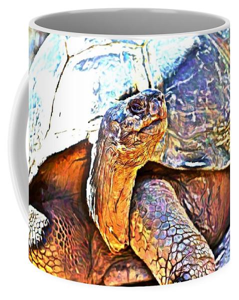 Tortoise Turtle Coffee Mug featuring the photograph Tortoise Gouache by Alice Gipson