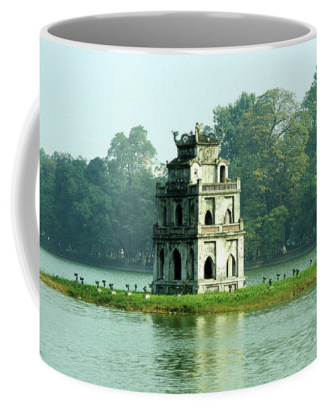 Vietnam Coffee Mug featuring the photograph Tortoise Tower 01 by Rick Piper Photography