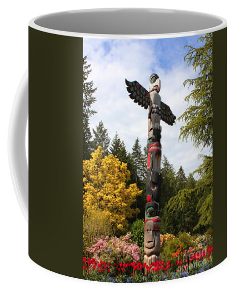 Totem Pole Coffee Mug featuring the photograph Totem Pole by Carol Groenen