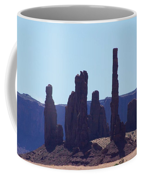 Monument Valley Coffee Mug featuring the photograph Totem Pole In Monument Valley by Dany Lison