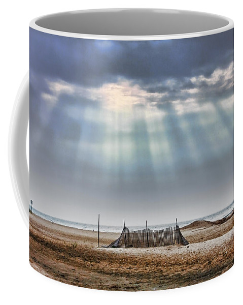 Beach Coffee Mug featuring the photograph Touched By Heaven by Sennie Pierson