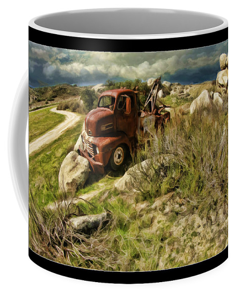 Tow Truck Coffee Mug featuring the photograph Tow Truck No Where To Go by Blake Richards