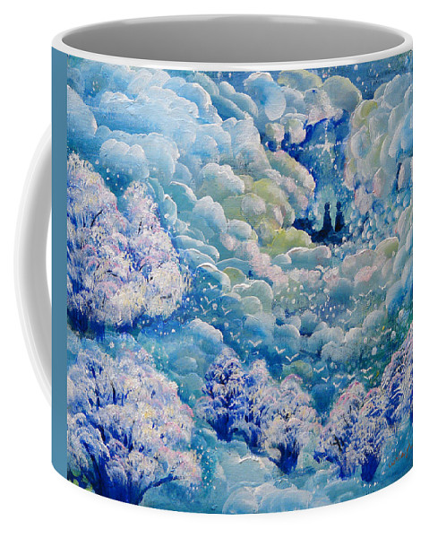 Blue Coffee Mug featuring the painting Toward God Incline by Ashleigh Dyan Bayer
