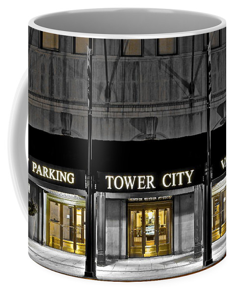 Tower Coffee Mug featuring the photograph Tower City In Cleveland Ohio by Frozen in Time Fine Art Photography