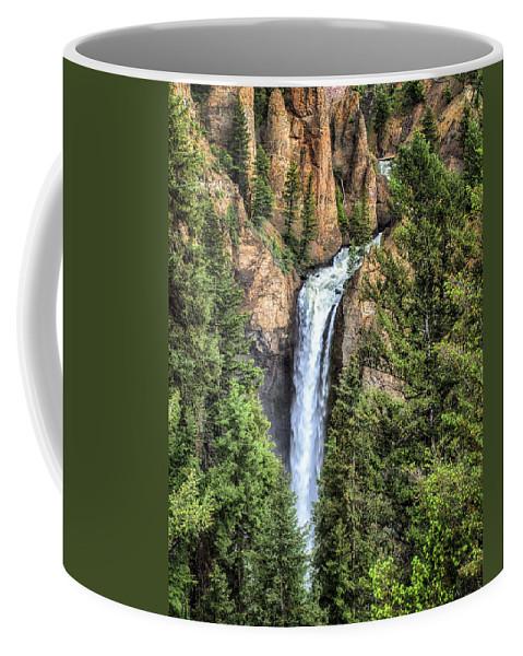 Waterfall Coffee Mug featuring the photograph Tower Falls Yellowstone National Park by Martin Belan