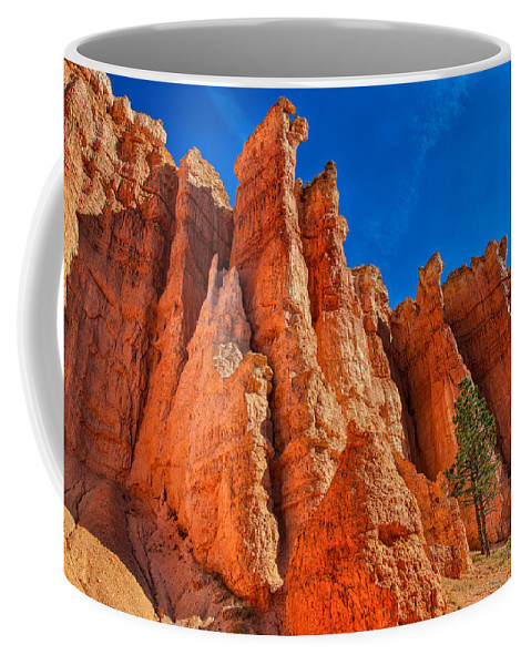 Landscape Coffee Mug featuring the photograph Towering Pinnacles by John M Bailey