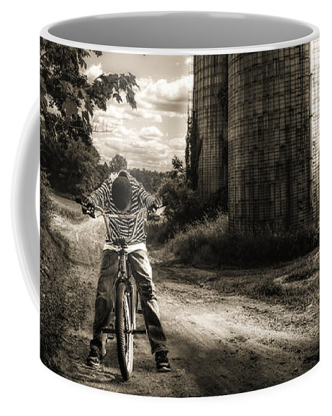 Landscape Coffee Mug featuring the photograph Town Line by Bob Orsillo