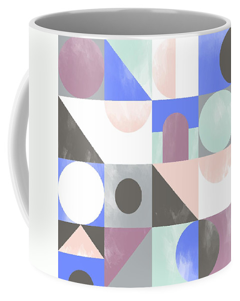 Pattern Coffee Mug featuring the painting Toy Blocks by Laurence Lavallee