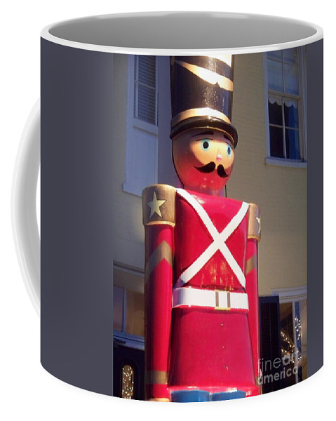 Toy Soldier Coffee Mug featuring the photograph Toy Christmas Soldier by Eric Schiabor