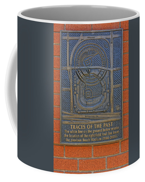 St. Louis Cardinals Coffee Mug featuring the photograph Traces Of The Past Busch Stadium Dsc01113 by Greg Kluempers