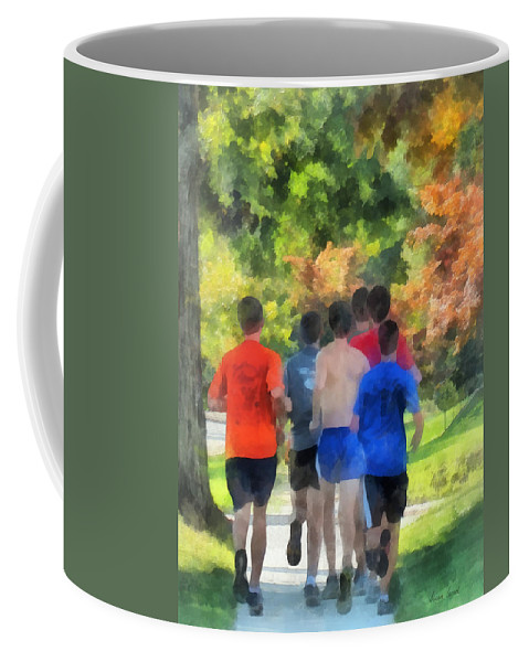 Track And Field Coffee Mug featuring the photograph Track Practice by Susan Savad