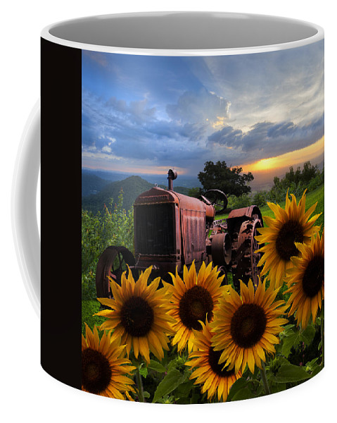 Appalachia Coffee Mug featuring the photograph Tractor Heaven by Debra and Dave Vanderlaan
