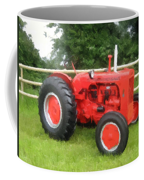 Tractor Coffee Mug featuring the painting Tractor by Jeelan Clark