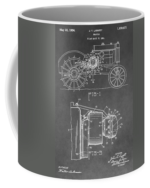 John Deere Tractor Patent Coffee Mug featuring the digital art Tractor Patent by Dan Sproul