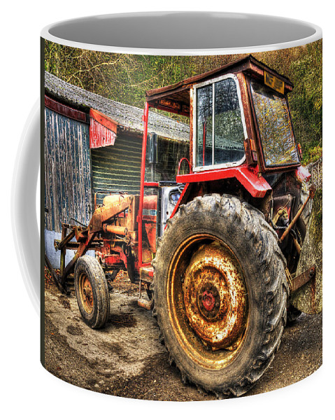 Tractor Coffee Mug featuring the photograph Tractor by Svetlana Sewell