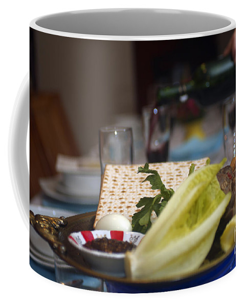 Psi Coffee Mug featuring the photograph Traditional Sedder Table by Ilan Rosen