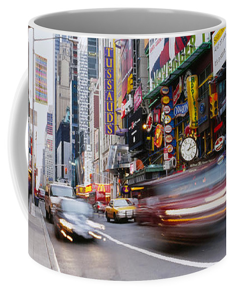 Photography Coffee Mug featuring the photograph Traffic On The Street, 42nd Street by Panoramic Images