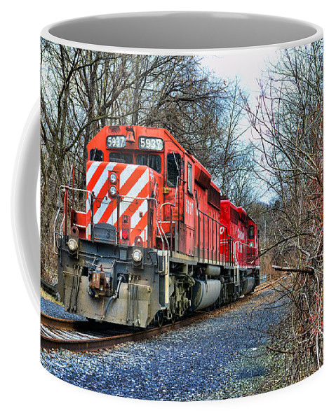 Paul Ward Coffee Mug featuring the photograph Train - Canadian Pacific Engine 5937 by Paul Ward