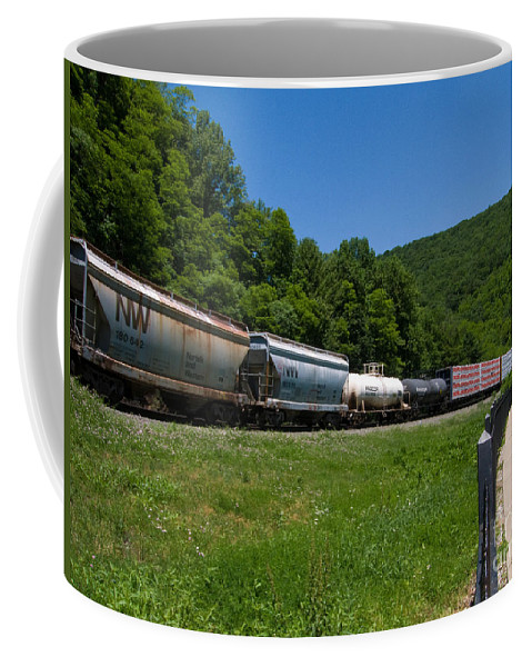 Allegheny Mountains Coffee Mug featuring the photograph Train Watching At The Horseshoe Curve Altoona Pennsylvania by Amy Cicconi