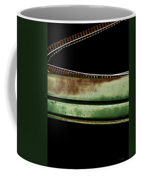 Curve Coffee Mug featuring the photograph Trak Curve by Fran Riley