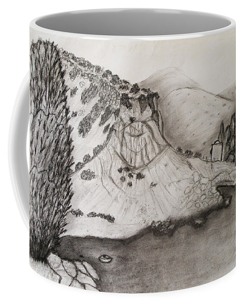 Tranquility Coffee Mug featuring the drawing Tranquility by Augusta Stylianou
