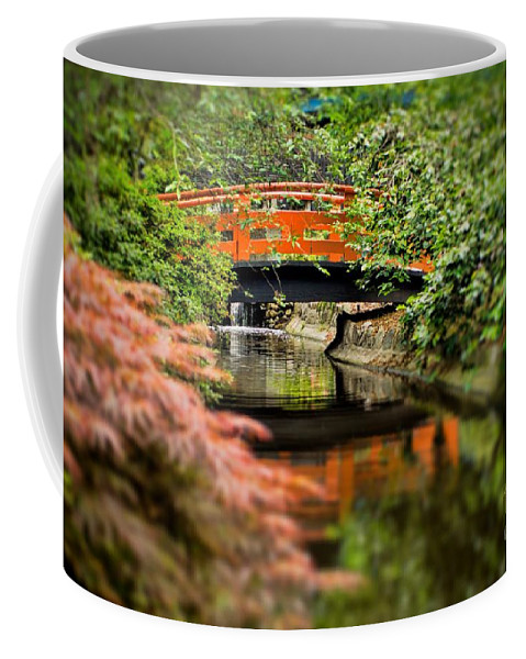 Green Coffee Mug featuring the photograph Tranquility by Peggy Hughes