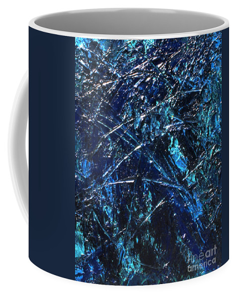 Abstract Coffee Mug featuring the painting Transitions I by Dean Triolo