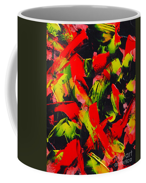 Abstract Coffee Mug featuring the painting Transitions IIi by Dean Triolo