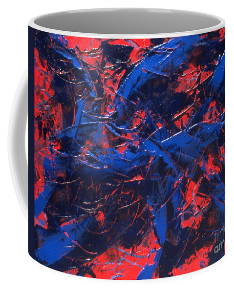 Abstract Coffee Mug featuring the painting Transitions Iv by Dean Triolo