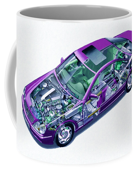 Car Coffee Mug featuring the painting Transparent Car Concept Made In 3d Graphics 8 by Jeelan Clark