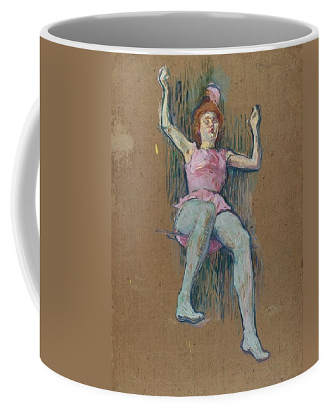 1887-1888 Coffee Mug featuring the painting Trapeze Artist At The Medrano Circus by Toulouse-Lautrec