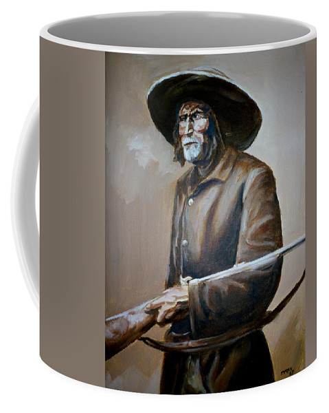 Trapper Coffee Mug featuring the painting Trapper by Bryan Bustard