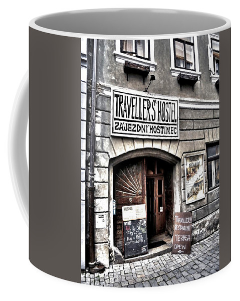Europa Coffee Mug featuring the photograph Travellers Hostel - Cesky Krumlov by Juergen Weiss