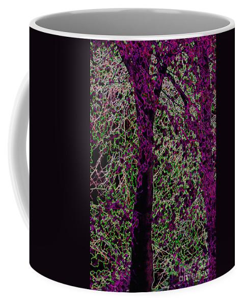 Purple Coffee Mug featuring the digital art Tree by Carol Lynch