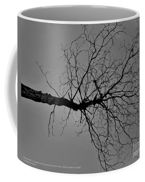 Black & White Photography Coffee Mug featuring the photograph Tree Fall by Amar Sheow