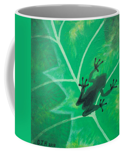 Tree Frog Coffee Mug featuring the painting Tree Frog by Gary Hogben