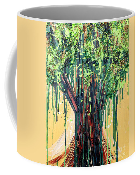 Tree Coffee Mug featuring the painting Tree Grit by Genevieve Esson