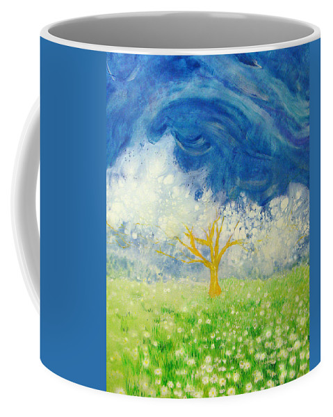 Nature Coffee Mug featuring the painting Tree Of Life by Ashleigh Dyan Bayer