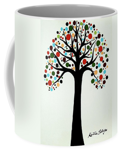 Modern Art Coffee Mug featuring the painting Tree Of Life by Katie Slaby