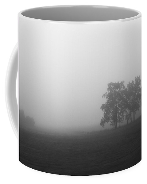 Rhonda Barrett Coffee Mug featuring the photograph Trees In The Mist by Rhonda Barrett