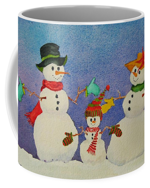 Christmas Card Coffee Mug featuring the painting Tres Chic by Mary Ellen Mueller Legault
