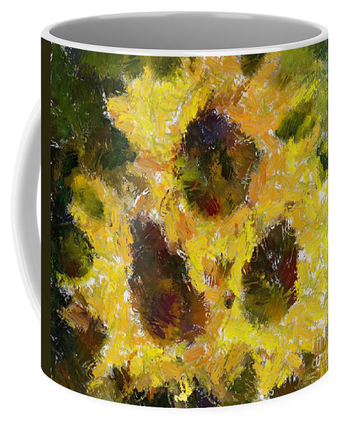 Still Life Coffee Mug featuring the painting Tres by Dragica Micki Fortuna