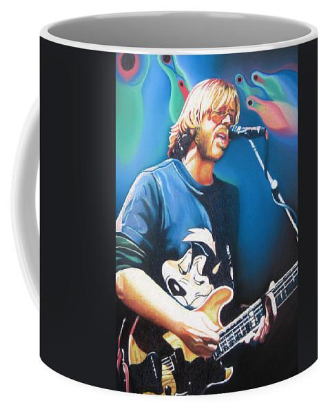 Phish Coffee Mug featuring the drawing Trey Anastasio And Lights by Joshua Morton