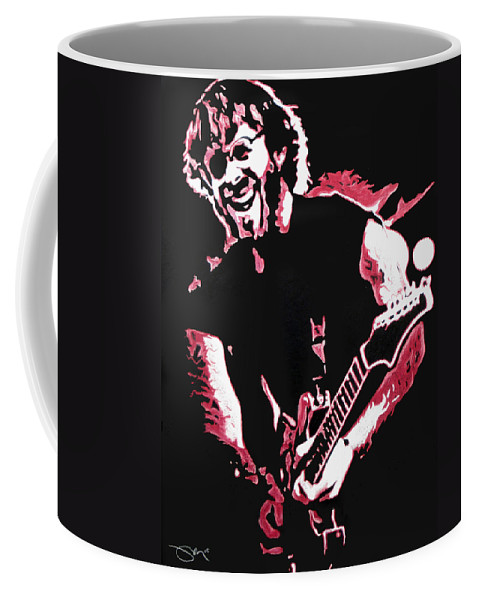 Phish Coffee Mug featuring the drawing Trey Anastasio In Pink by Joshua Morton