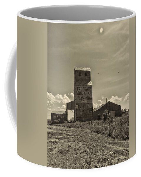Grain Elevator Coffee Mug featuring the photograph Tri State Millling by Cathy Anderson