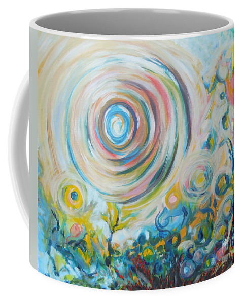 Abstract Coffee Mug featuring the painting Tribute To Gary by Tonya Henderson