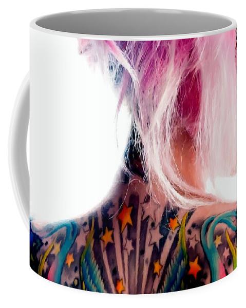 Tattoo Girl Coffee Mug featuring the digital art Tribute to Suicide Girls 3 by Gabriel T Toro